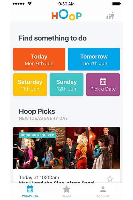 Hoop app on phone