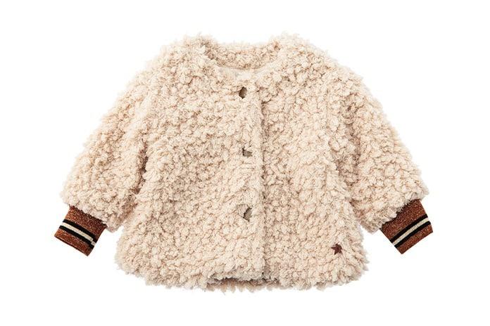 Tocoto vintage baby sheepskin coat