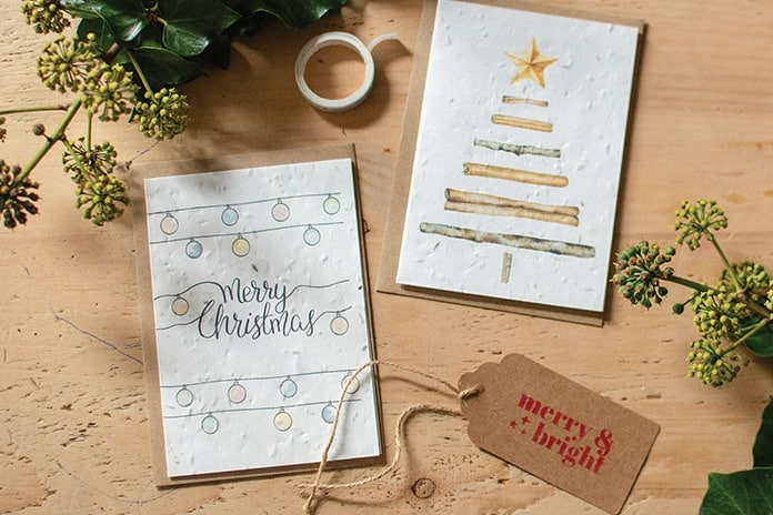 Plastic Free Christmas Cards