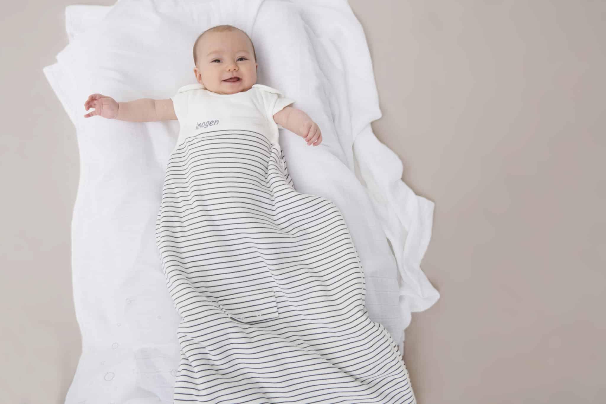 Clever Sleeping Bag Tog Grey Stripe