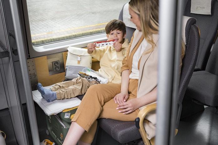 Golden Olive Inside The Train